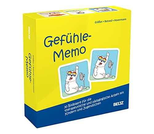 Gefühle-Memo: 30 Bildpaare für die therapeutische und pädagogische Arbeit mit Kindern...