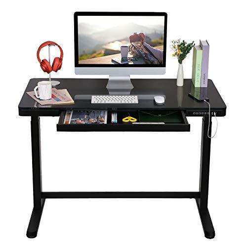 Elektrisch Höhenverstellbarer Schreibtisch mit Touch Funktion und USB, Elektrischer...