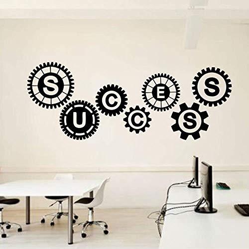 Erfolg Zahnräder Vinyl Wandtattoo Motivierende Teamarbeit Büroräume Wörter Dekor...