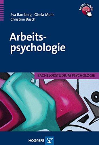Arbeitspsychologie (Bachelorstudium Psychologie)