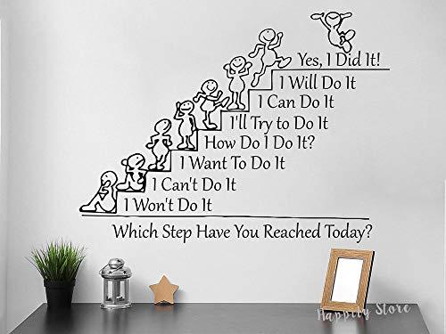 Crjzty Door Sticker Welchen Schritt haben Sie erreicht? Tod Motivation Zitat Wandtattoo...